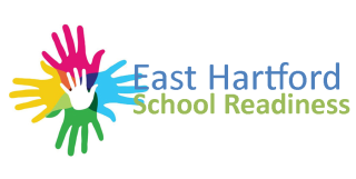 multi colored hands East Hartford School Readiness logo