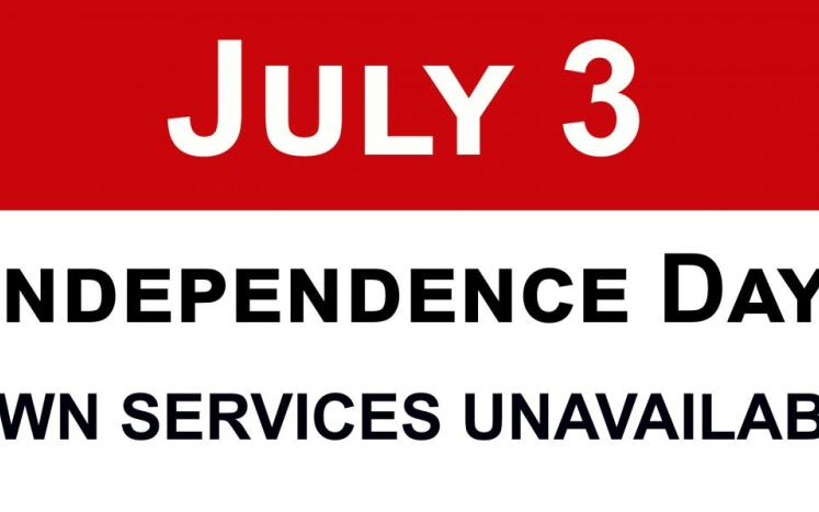 east hartford closed for independence day