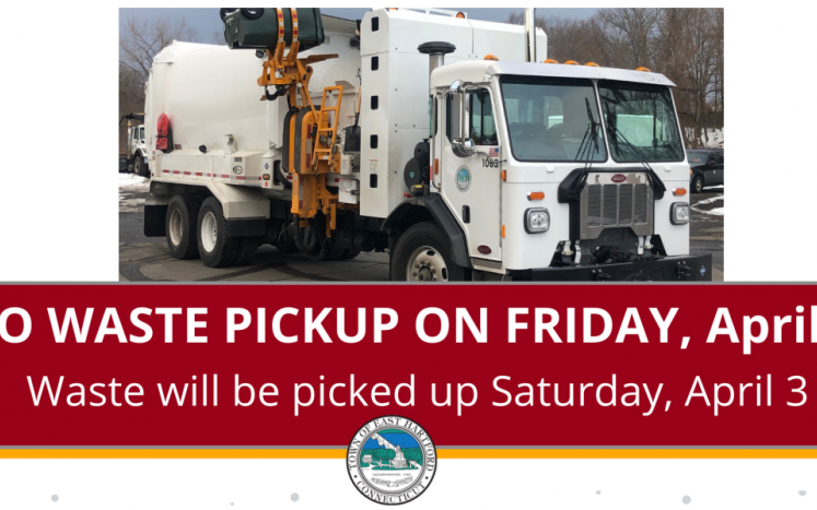 Trash Collection will take place April 3rd.