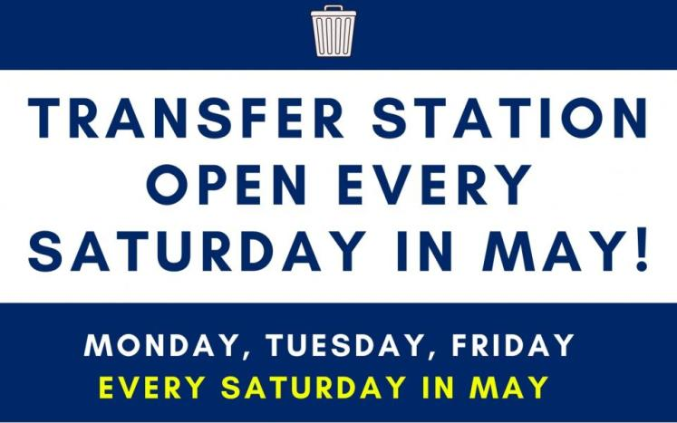 transfer station open every saturday