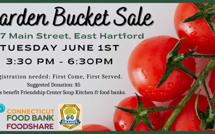 Garden Buckets available June 1 from 3:30pm to 6:30pm