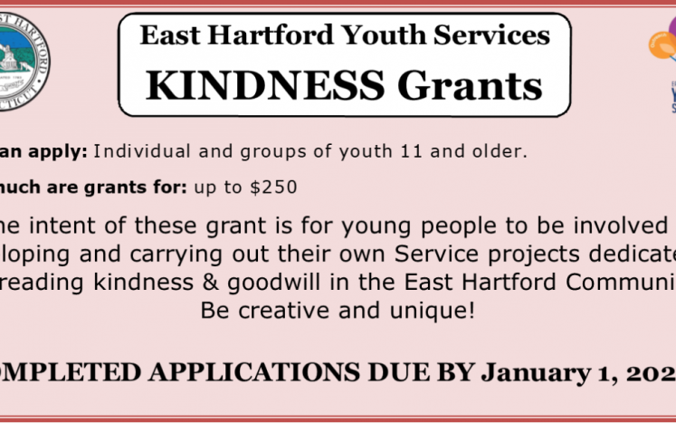 east hartford youth services kindness grant