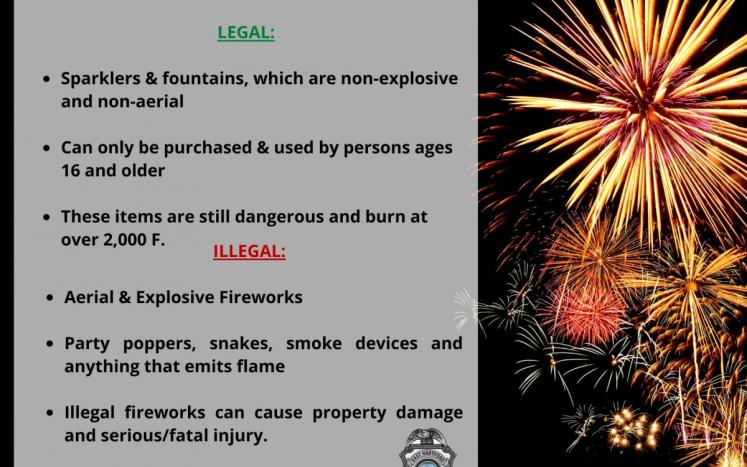east hartford warns residents of illegal fireworks