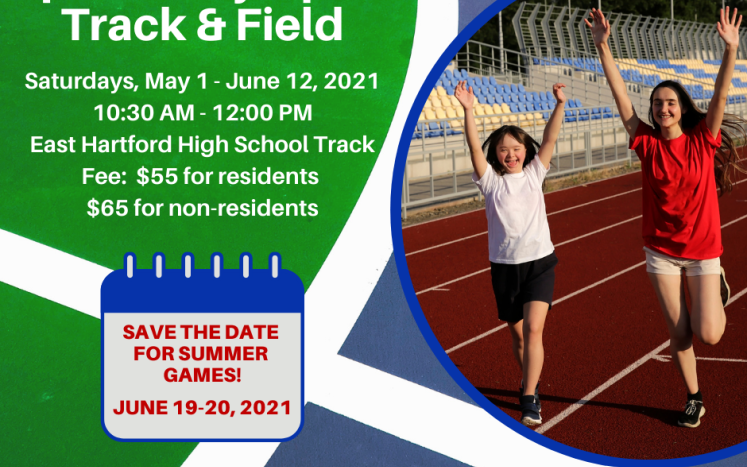 special olumpics track and field graphic and info
